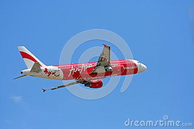 Airbus a320-200, thaiairasia Editorial Stock Photo