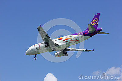 Airbus A320-200 of Thaismile airline Editorial Stock Image