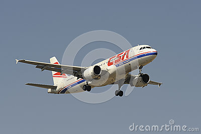 Airbus A320-214 Editorial Stock Image