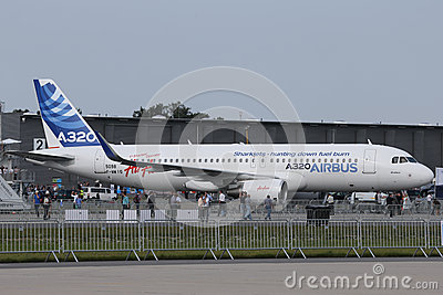 Airbus A320 with sharklets Editorial Image