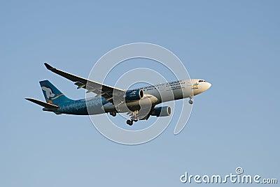 Airbus A320, voies aériennes du Qatar Image stock éditorial