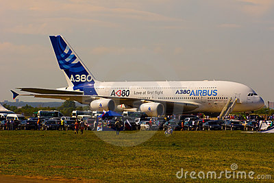 Airbus A380 Editorial Stock Photo