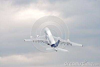 Airbus A380 Redaktionelles Stockbild