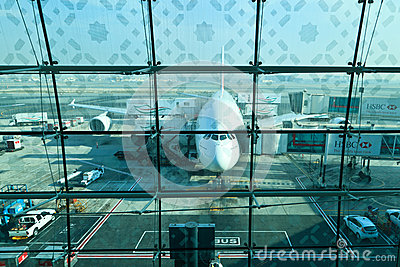 Airbus a380 Immagine Stock Editoriale