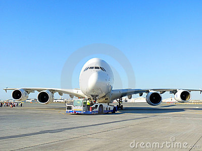 Airbus A380 Front Editorial Photography