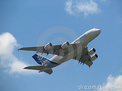 Airbus A380 the largest plane Editorial Photography