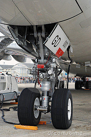 Airbus A380 nose landing gear Editorial Photography