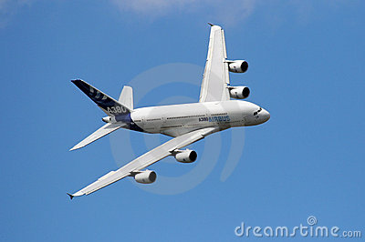 Airbus A380 in the sky Editorial Stock Photo