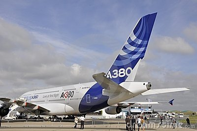 Airbus on display Editorial Photo