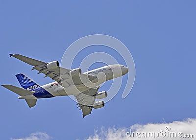 Airbus exhibition flight Editorial Stock Photo