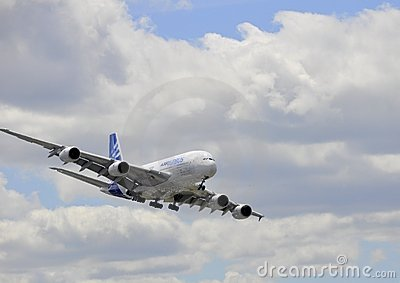 Airbus flying Editorial Stock Photo