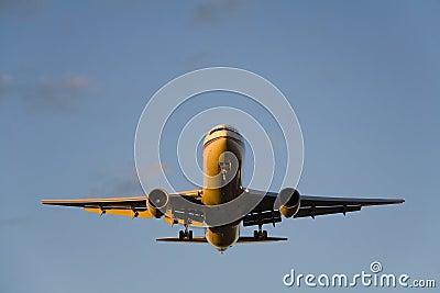 Airbus Landing at Dusk