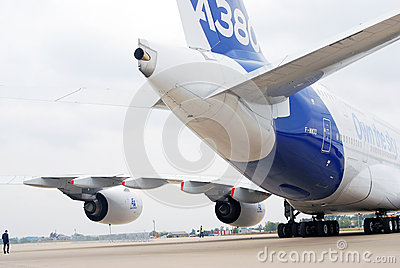 Airbus A380 at MAKS-2013 Editorial Stock Photo