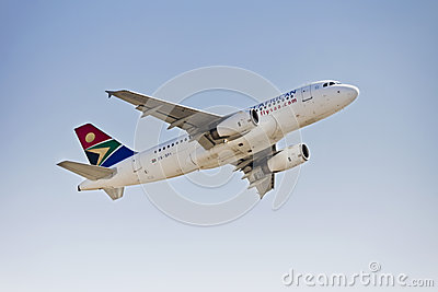 Airbus A319 - MSN 2375 - ZS-SFI Editorial Stock Image
