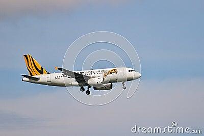 Airbus A320 landing Editorial Photo