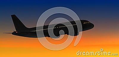 Airbus sunset