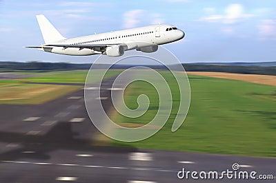 Airbus taking off