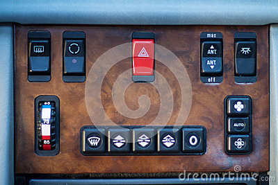 Aircondition controls in car