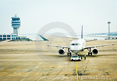 Aircraft on the airport