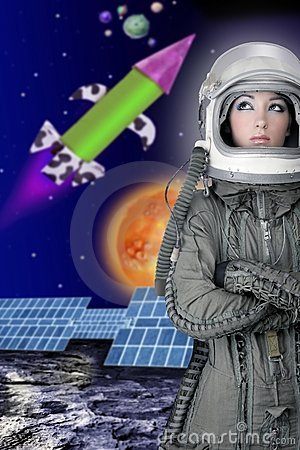 Aircraft  astronaut spaceship helmet woman fashion