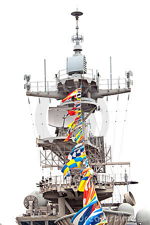 Free Aircraft Carrier Communications Equipment Royalty Free Stock Images - 14496969