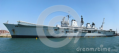 Aircraft carrier HMS Illustrious Editorial Photography