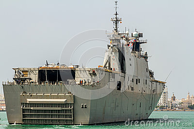 Aircraft carrier L-61 Juan Carlos I Editorial Stock Image