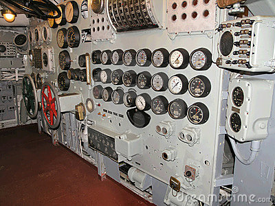 Aircraft Carrier Museum control room