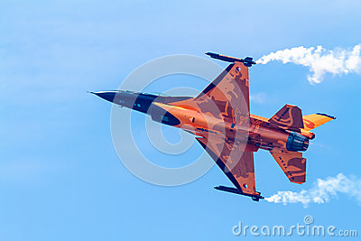 Aircraft F-16 Demo Team Editorial Stock Image