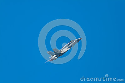 Aircraft F-18 Hornet Editorial Stock Photo
