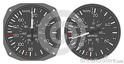 Aircraft indicators 5 - 480B dashboard set