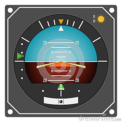 Aircraft Instrument Flight Director Indicator Royalty