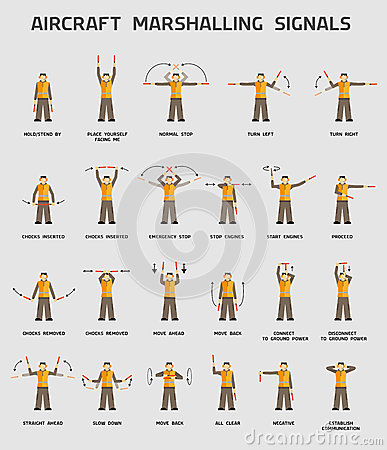 Aircraft Marshalling Signals Stock Photo - Image: 35487770