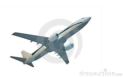 Aircraft model isolated
