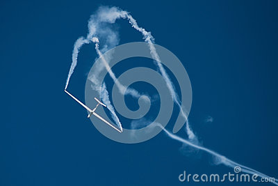 Aircraft performing at the Romanian Air Show Editorial Stock Photo
