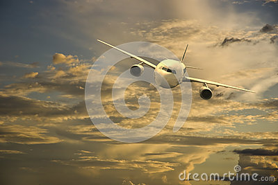 Aircraft in the sky