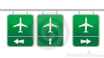 Aircraft traffic sign illustration design