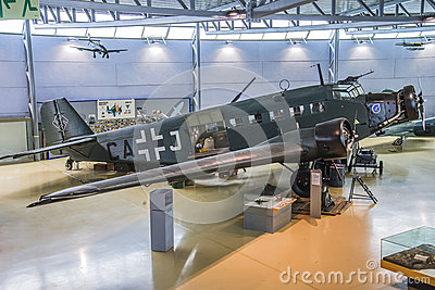 Aircraft type, junkers ju 52 Editorial Stock Image