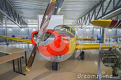 Aircraft type, saab 91b-2 safir Editorial Stock Photo