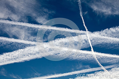 Aircraft Vapour Trails