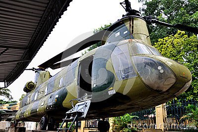 Aircraft in Vietnam Military History Museum Editorial Image