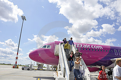 Aircraft of Wizzair Editorial Photography