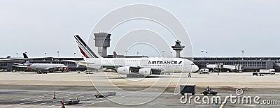 An AirFrance Airbus at Washington Dulles Editorial Photo