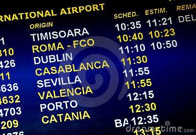 Airline arrival times