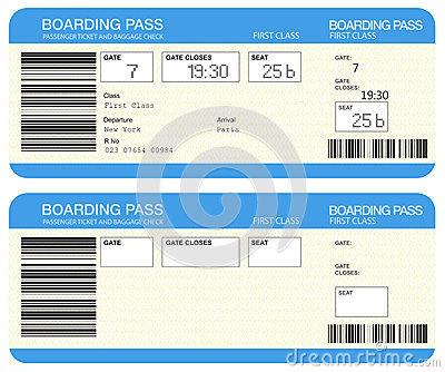 Free Clipart Airplane Ticket