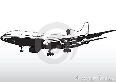 Airline commercial silhouette