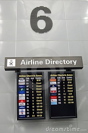 Airline Directory Editorial Image