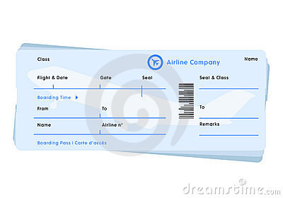 fill in the blank airline Plane Ticket Template Printable