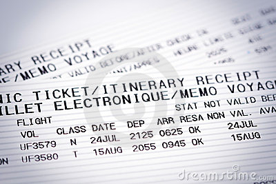 Airline flight tickets