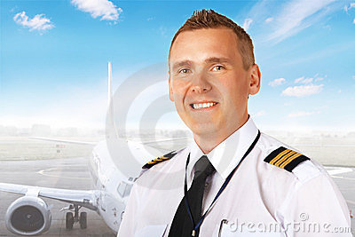 Airline pilot at the airport